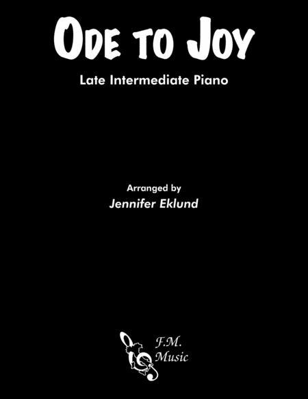 Ode to Joy (Late Intermediate Lyrical Piano)