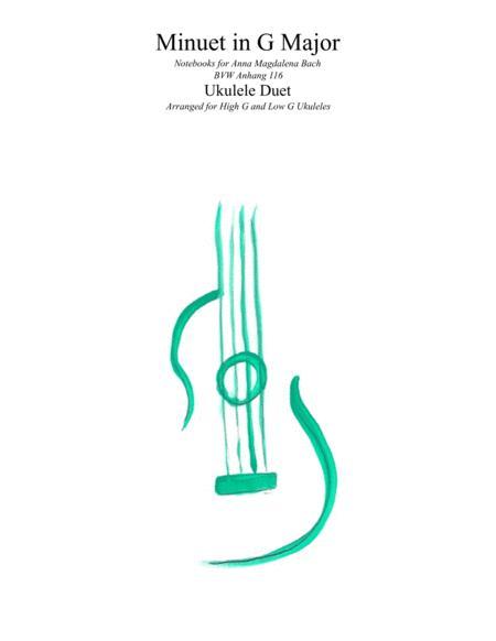 Bach Minuet In G Major BVW116  -  Ukulele Duet