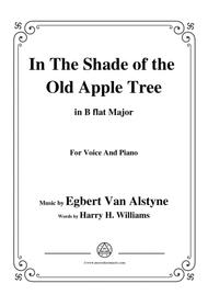 Egbert Van Alstyne-In The Shade of the Old Apple Tree,in B flat Major,for VoiceΠano