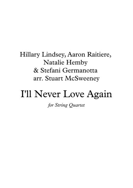 I'll Never Love Again - String Quartet