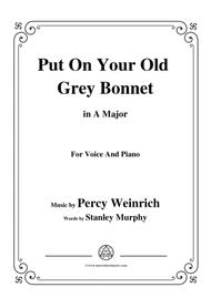 Percy Wenrich-Put On Your Old Grey Bonnet,in A Major,for Voice&Piano