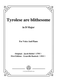 Bantock-Folksong,Tyrolese are blithesome(Tyroler sind lustig),in D Major,for Voice and Piano