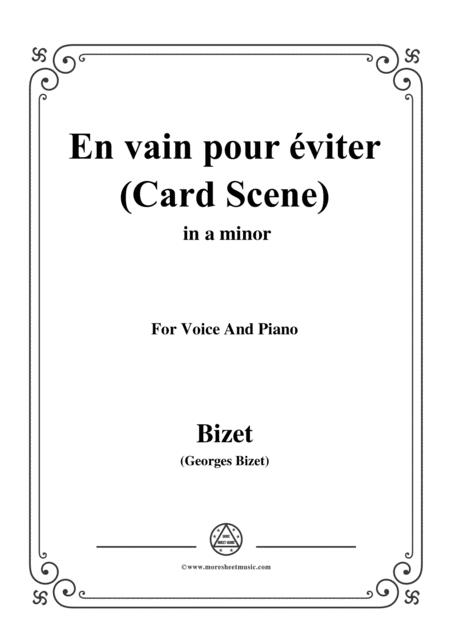 Bizet-En vain pour éviter(Card Scene),from 'Carmen',in a minor,for Voice and Piano