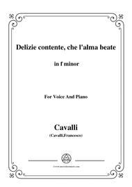 Cavalli-Delizie contente, che l'alma beate,from 'Giasone',in f minor,for Voice and Piano