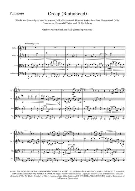 Creep for String Quartet (Radiohead)