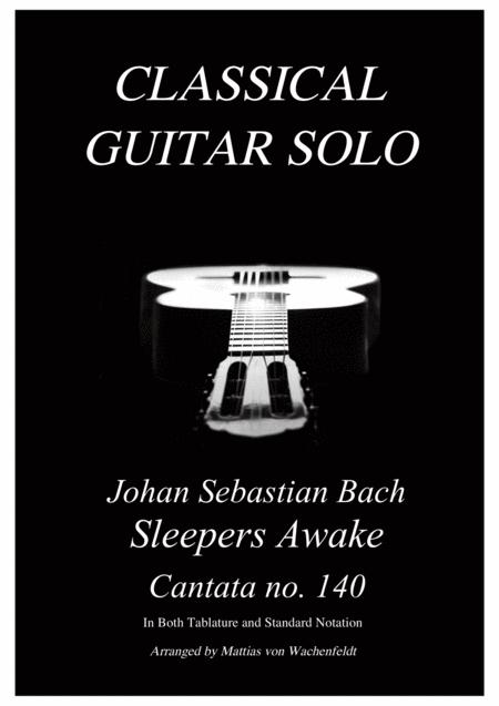 Johan Sebastian Bach - Sleepers Awake - guitar