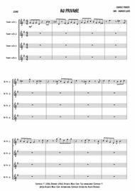 Au Privave - Trumpet quartet