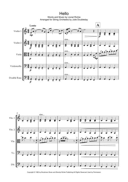 Hello for String Orchestra - Score and Parts