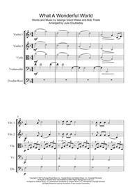 What A Wonderful World for String Orchestra - Score and Parts