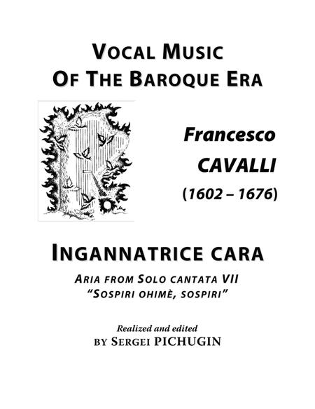 CAVALLI Francesco: Ingannatrice cara, aria from the cantata, arranged for Voice and Piano (A minor)