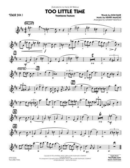Too Little Time (arr. Sammy Nestico) - Conductor Score (Full Score) - Tenor Sax 1