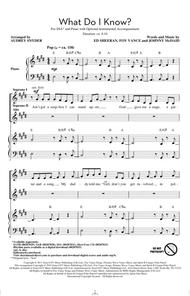 What Do I Know? (arr. Audrey Snyder)