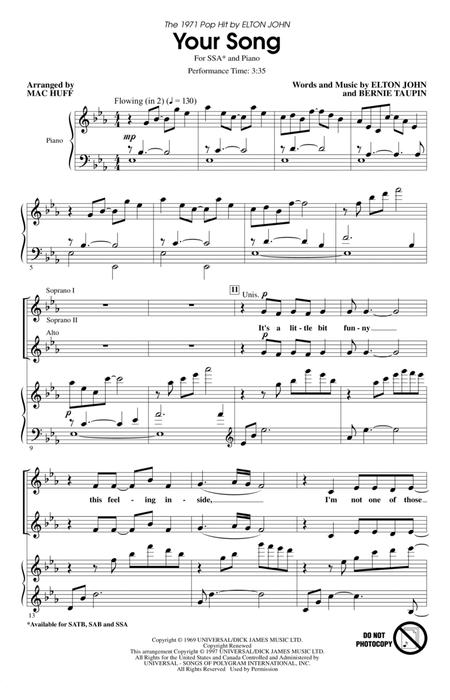 Your Song (arr. Mac Huff)