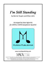 I'm Still Standing - Elton John - for Saxophone Quartet