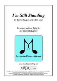 I'm Still Standing - Elton John - for Clarinet Quartet