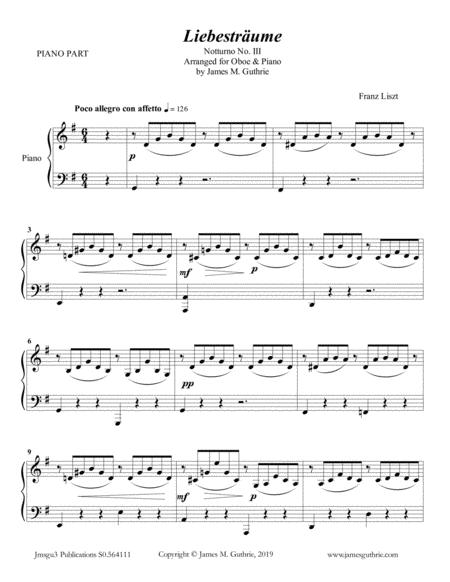 Liszt: Liebestraume for Oboe & Piano