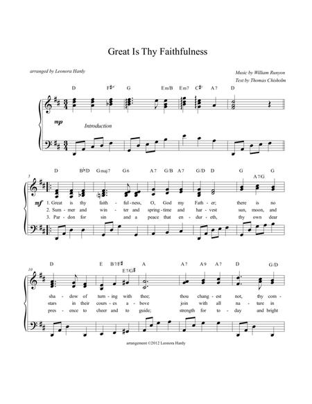 Great Is Thy Faithfulness  (for piano led-congregational singing)