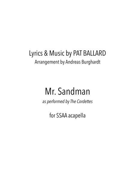 Mister Sandman (for Choir SSAA acapella)