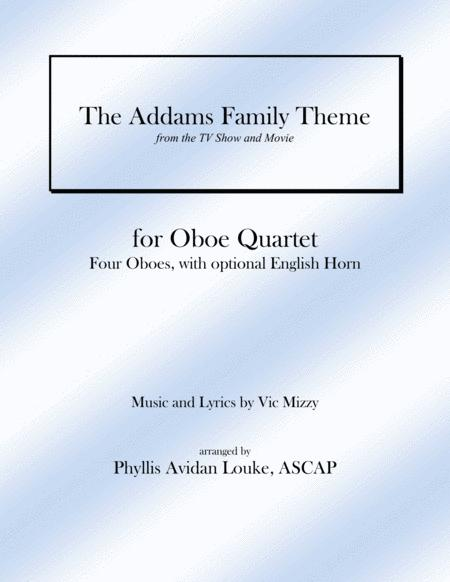 The Addams Family Theme for Oboe Quartet