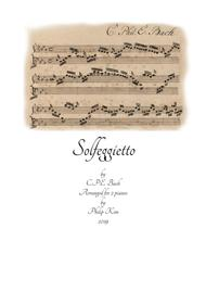 C. P. E. Bach Solfeggietto (Solfeggio) in C minor arranged for 2 pianos