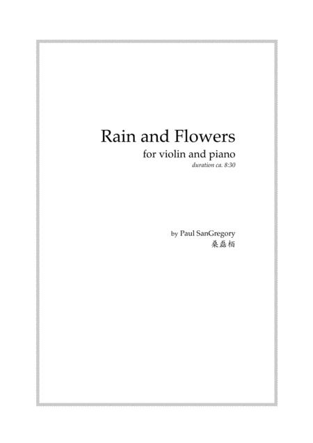 Rain and Flowers (for violin and piano)