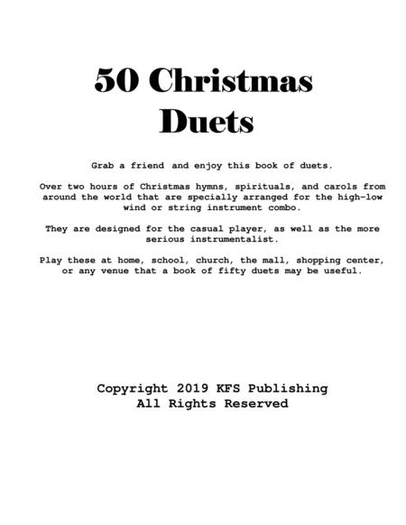 Fifty Christmas Duets (Oboe and Bassoon, Trombone, or Euphonium)