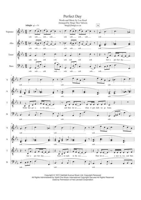 Perfect Day - SATB a capella