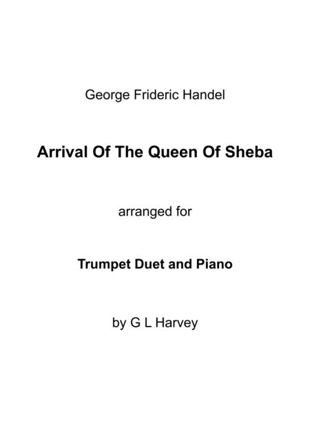Arrival of the Queen of Sheba (Trumpet Duet with Piano Accompaniment)
