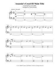 Assassin's Creed III Main Title - easy piano