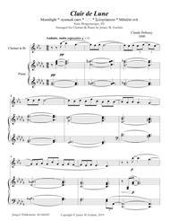 Debussy: Claire de Lune for Clarinet & Piano
