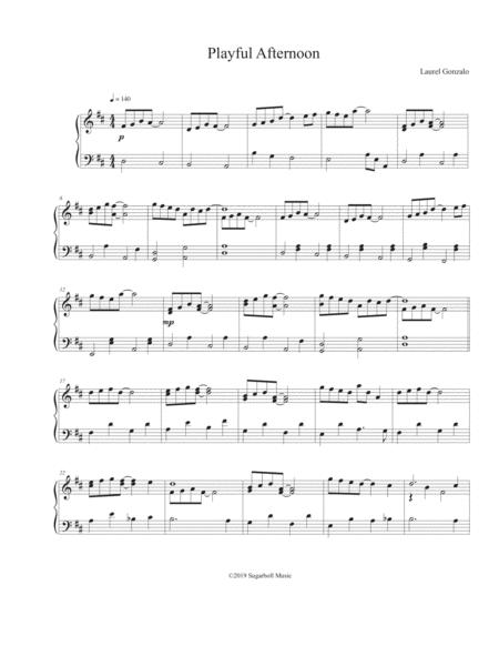 playful afternoon by laurel gonzalo - digital sheet music for individual  part - download & print s0.566509   sheet music plus  sheet music plus