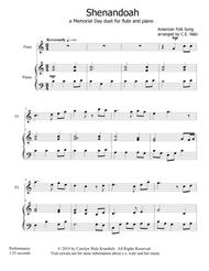 Shenandoah - a Memorial Day duet for flute and piano