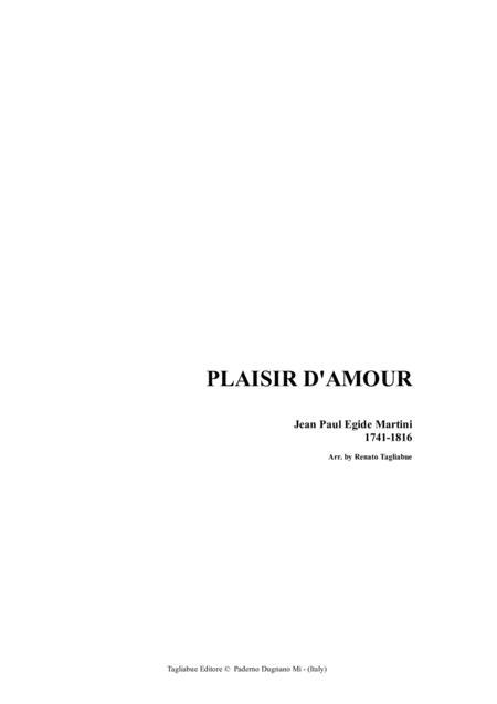 PLAISIR D'AMOUR - Martini - Arr. for Alto/Bariton and Piano