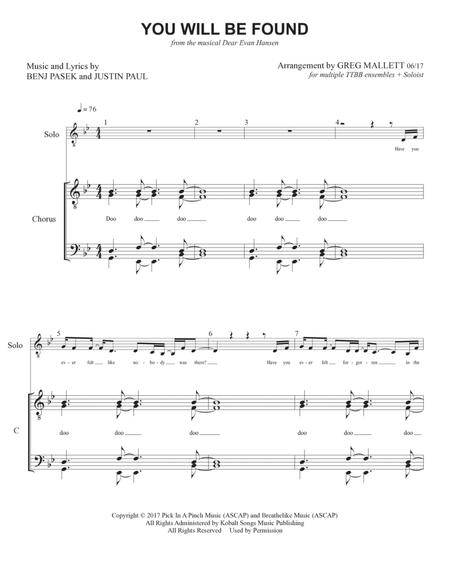 You Will Be Found From Dear Evan Hansen By Digital Sheet Music For Score Download Print H0 566667 Sc000013905 Sheet Music Plus You can find lyrics and guitar music for any song you want if you just google something such as lyrics and sheet music for_. but if you want sheet music for piano and other instruments, you will usually have to buy them. you will be found from dear evan hansen