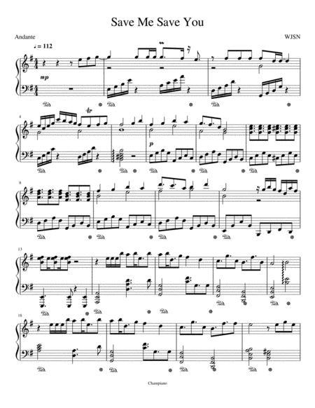 Download WJSN-Save Me Save You (Piano Arrangement) Sheet