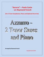 Azzurro - 2 Tenor Saxophones; Piano and Optional Drum Set