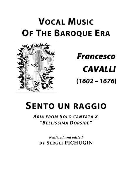CAVALLI Francesco: Sento un raggio di vago diletto, aria from the cantata, arranged for Voice and Piano (B flat major)
