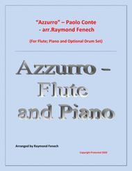 Azzurro - Flute; Piano and Optional Drum Set - Chamber music