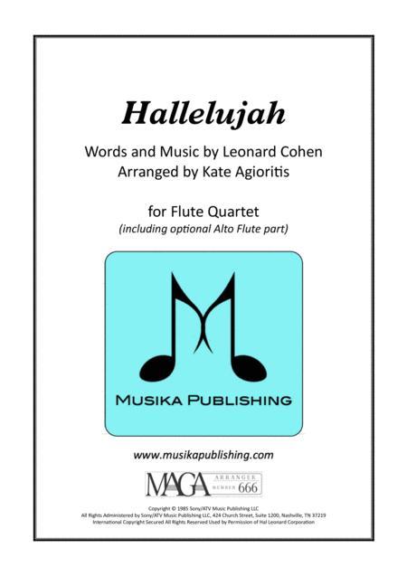 Hallelujah - Leonard Cohen - for Flute Quartet