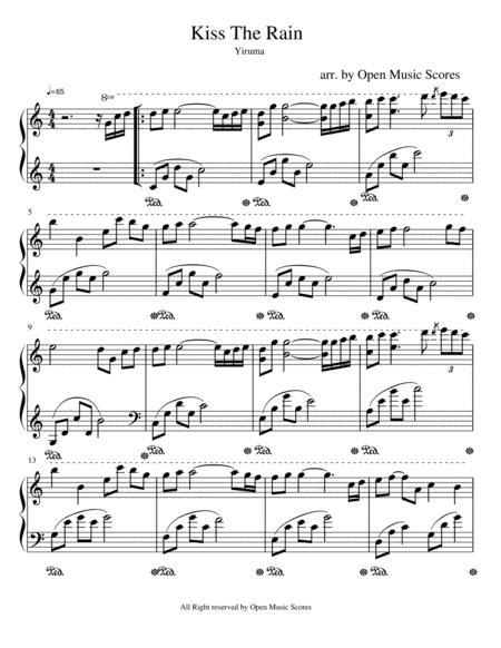 Kiss The Rain Yiruma In C Major By Yiruma Digital Sheet Music For Download Print S0 567831 Sheet Music Plus