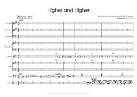 Higher And Higher - D major - rhythm section, 3 horns, vocal & optional synth horns