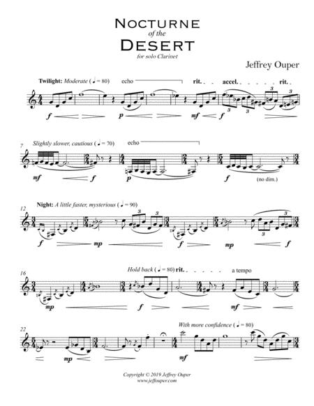 Nocturne of the Desert (for Solo Clarinet)