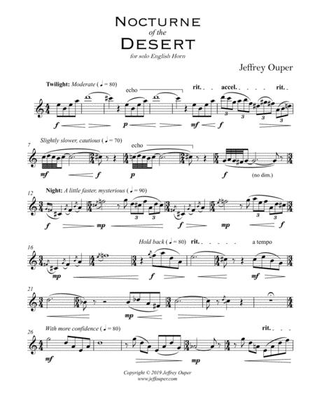 Nocturne of the Desert (for Solo English Horn)
