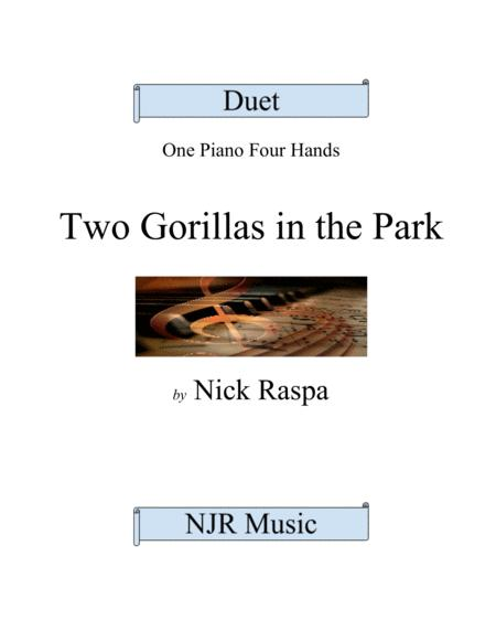 Two Gorillas in the Park (1 piano 4 hands) elementary
