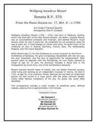 Sonata K.V. 570 (Clarinets)