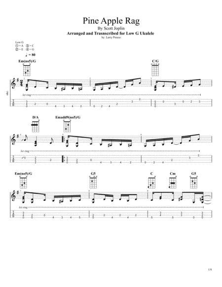 Pine Apple Rag (Scott Joplin) for Fingerstyle Ukulele Solo