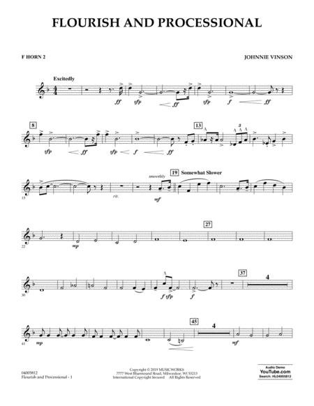 Flourish and Processional - F Horn 2
