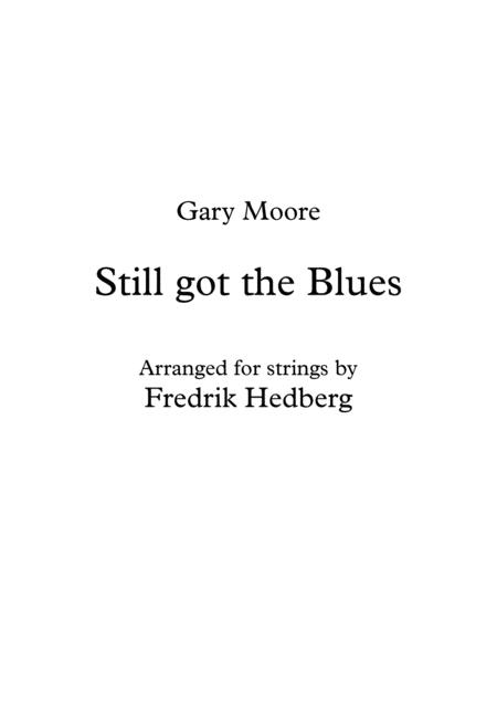 Still Got The Blues - Background strings