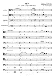 Kyrie from 'Missa Pro fidelibus defunctis' for Trombone Quartet