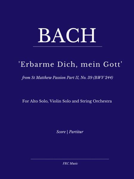 Aria: Erbarme Dich, mein Gott from Matthäuspassion (Strings and Alto voice)
